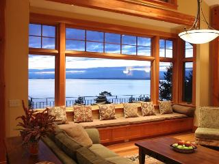 Incredible Panoramic waterviews from the great room of the Northwest Passage.
