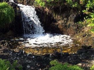 Entrance waterfall