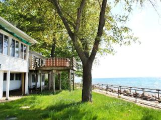 Vashmars Front yard with deck