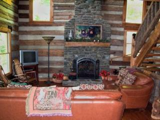 Living Room-beautiful stone fireplace