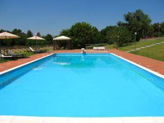 Villa Vallocchia : Large pool with diving board + sound system