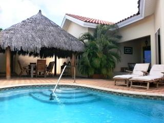 Your private outdoor area with swimming pool, BBQ grill and outdoor furniture!