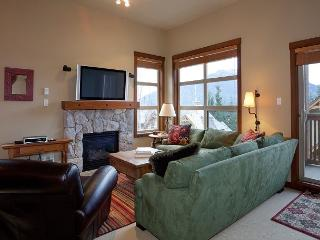 Living Area with Gas Fireplace and Mountain Views