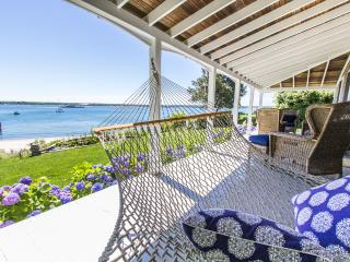 Porch Overlooks Yard and Beach Area
