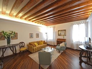living room of the Querini apartment in Venice