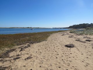 Here's a view towards Chatham Bars Inn from your private beach area.