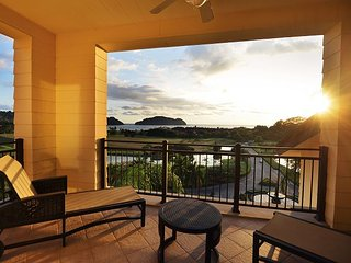 Enjoy the sunset from the second floor terrace.