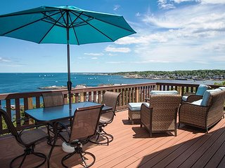 Large deck with a stunning view of the Atlantic.