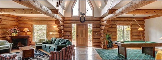 Stunning Log Chalet With Sleeping for 22