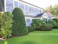 WALSJ - Beautiful gardens in private setting, a classic Edgartown Village home walking distance to town