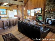 3BR Mountain Cabin with Game Room, Flat Screen TV, Stone Wood Burning