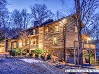Rustic & Unique! Expansive 5BR/4BA Cabin on Private, Wooded Acreage Only Minutes to Blowing Rock! Hot Tub, Game Room, Firepit, Indoor & Outdoor Fireplaces!