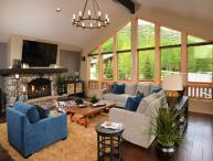 Enjoy this luxurious vacation home conveniently located in Vail in a quiet cul-de-sac, along-side the free shuttle route.