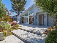 Luxury beachfront home with modern amenities.