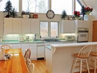 Located at Base of Powderhorn Mtn in the Western Upper Peninsula, Large Home with Spacious White Kitchen & 2 Wood-Burning Fireplaces