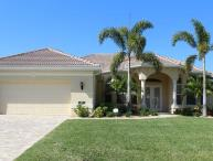Amazing Cape Coral Vacation Rental with boat dock, located on a wide canal in the southwest of Cape Coral.