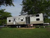 Travel Trailer Rental at Seaport Resort in Mystic!