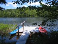 Canoe on Hodgdon Pond, Seal Cove Cabin