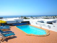 Villa in Puerto del Carmen with sea views and heated gated pool LVC198986