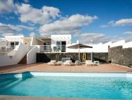 Villa with Heated Pool, Wifi. Gated Pool and Great Sea Views LVC198990