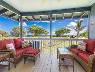 Hale Makai Beachfront Home, AC, newly remodeled, beachfront on Anahola Bay