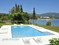 Greek Villas Corfu - the Wave Beach Villa  amazing seafront villa sharing pool sleeps 6+