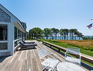 AKINC - Farm Neck Waterfront Home, Spectacular Views across Sengekontacket Lagoon,  Short Walk to Association Lagoon Beach area for Kayaking.  One mile to State Beach, Bike paths at entance to Rd run the Full lenght of Beach Rd.