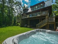 Lakefront home with 3 master suites & a private dock!