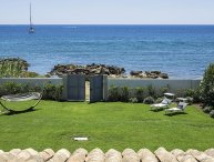Ionian Haven Holiday villa rental near Syracuse Sicily on the beach and with air