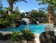 Las Vegas Water Slide Estate -huge pool