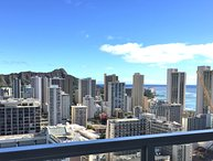 Ocean, Diamond Head, mountain Views -  36th floor