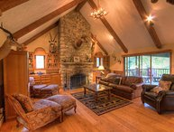 Private Banner Elk Mountain Cottage with Views! Custom Stone and Wood Work, Hot Tub, Fire Pit, Fireplace and more