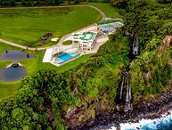 Epic Big Island Vacation Rental Boasting a Double Waterfall and Golf Course