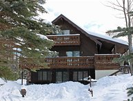 Located at Base of Powderhorn Mtn in the Western Upper Peninsula, A Large Trailside Home with 2 Large Fireplaces