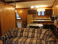 Located at Base of Powderhorn Mtn in the Western Upper Peninsula, A Condo-Style Home 1 block from Main Ski Lodge, Dated but Comfortable