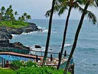 Poipu Shores 101A Stunning 2 bedroom ocean front only 35` from the ocean