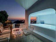 White Linen Collection Villa I - Gv - a unique Santorini property  has wonderful views & Jacuzzi