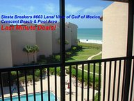 Sun, Sand & *Save 20% to 35%* Siesta Breakers #603 in Siesta Key, FL