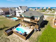Sea Song II | 470 ft from the Beach | Private Pool, Hot Tub | Nags Head