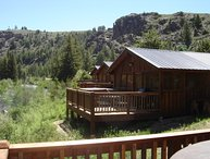 Premium 2 BR Cabin on Taylor River With Private Hot Tub at Three Rivers Resort in Almont (#20)