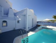BlueVillas | Villa Rosa | Private pool with volcano view close to Fira Town