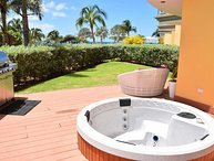 PROMO-BEACHFRONT- EAGLE BEACH - OCEANIA RESORT - Beach Garden 1BR condo - E124-2