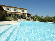 In Seillans, Var, beautiful holiday home 12P. with pool, nice park