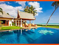 Villa 26 - 5 BR option beachfront luxury with chef service