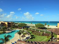 BEACHFRONT - EAGLE BEACH - OCEANIA RESORT - Royal Penthouse 2BR condo - BC352-2