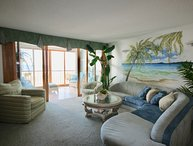 The  Pyramid...Beautiful ocean front 2 Bedroom Unit 1C on the Beach with pool