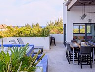 Terrazas Penthouse for 6 ppl! stunning rooftop w/ private pool! Street 38: ocean