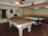 River Front Cabin with Huge Game Room in the Coosawattee River Resort Ellijay Ga