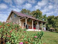 French Broad Cabin: private hiking, covered porch, fire-pit, downtown Marshall &