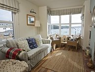 SLIPWAYS, central Salcombe, estuary views, gas fire, parking